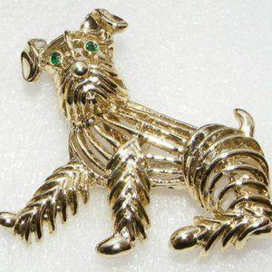 Vintage Gerry Terrier Dog Brooch